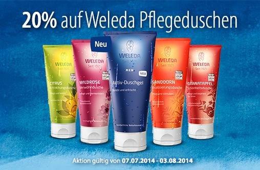 [Müller] 20% Rabatt auf Weleda Pflegeduschen 200 ml ab 4,76 €
