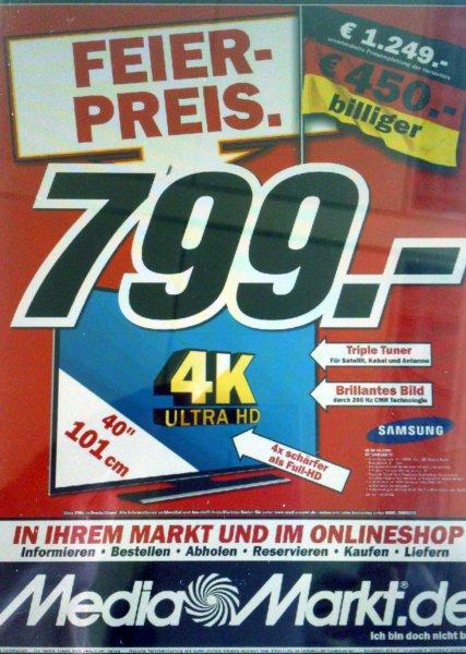 Media Markt Bundesweit: Samsung UE40HU6900 für 799€