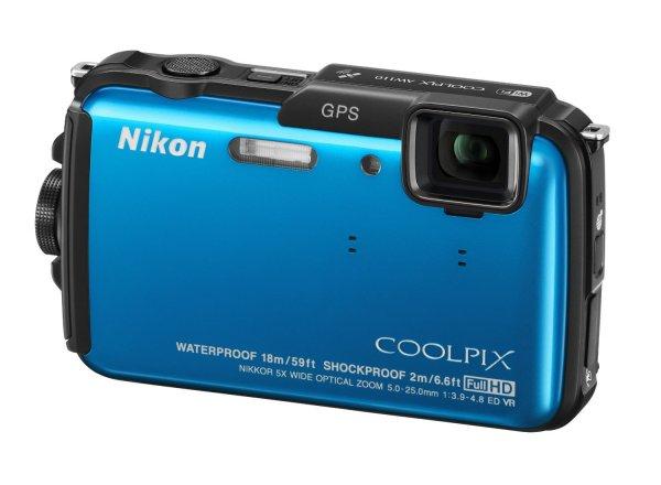 [amazon.it] NIKON Coolpix AW110 Blau m. Akku,LG,?USB,?AV,?etc.. AW 110 18m wasserdicht + GPS inkl. Vsk für