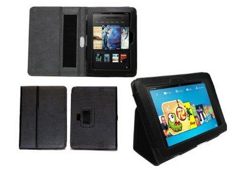 Kindle Fire HD 7 Zoll schwarzes Leder Case Cover nur 0,01 Euro