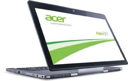Acer Aspire R7-571G Convertible Notebook (Intel Core i5 3337U, 1,8GHz, 8GB RAM, 750GB HDD) silber