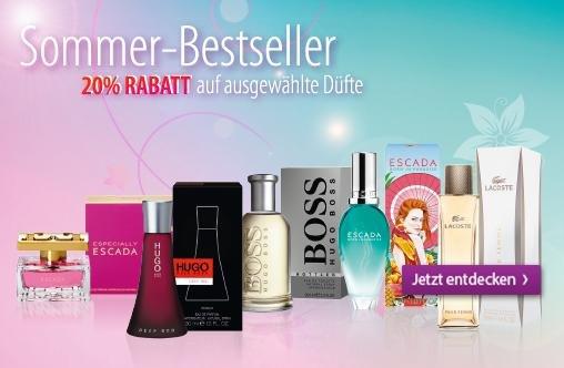 [Müller] 20% Rabatt auf ausgewählte Parfums z.b. von Hugo Boss