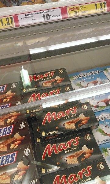 Kaufland Bundesweit (?): Snickers, Mars, Bounty Eis und co. 50% Rabatt