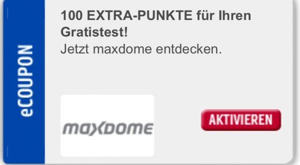 100 Payback Punkte für Maxdome Test