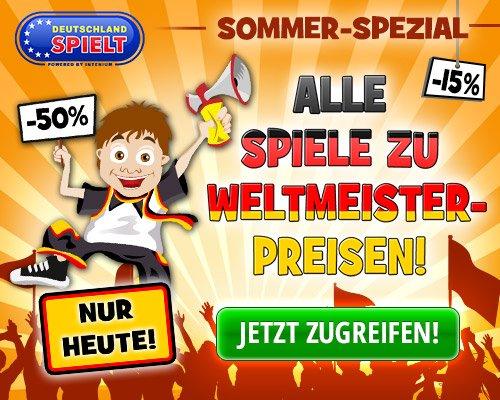 50% Rabatt auf Casual Games bei Deutschland-Spielt.de