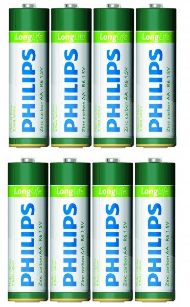 8 x Philips Batterie LongLife AA 1,5V   inklusive Versand für 1,99 Euro