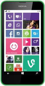 Nokia Lumia 630 Single-SIM Smartphone grün [amazon.de]