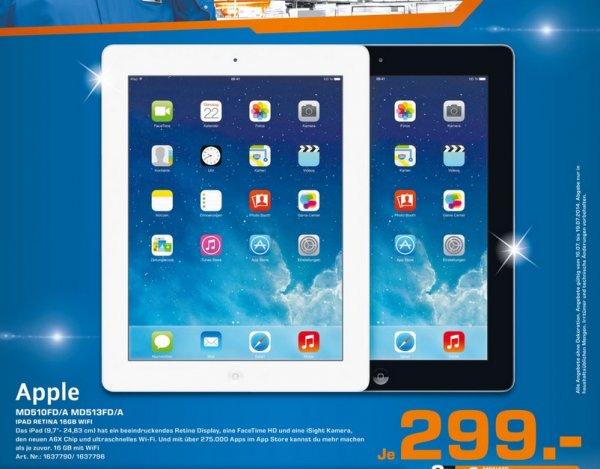 Apple iPad 4 16GB WiFi für 299€ Lokal [Saturn Köln]