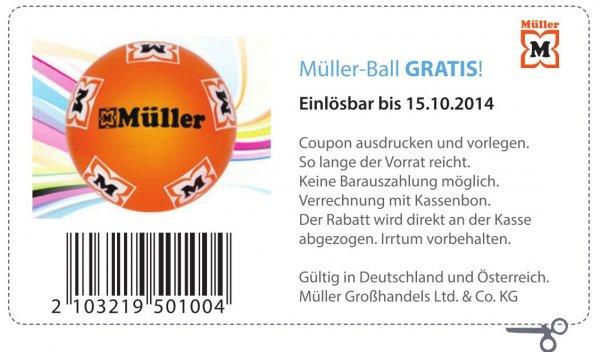 WIEDER DA Gratis: Müller-Ball im Geschäft abholen