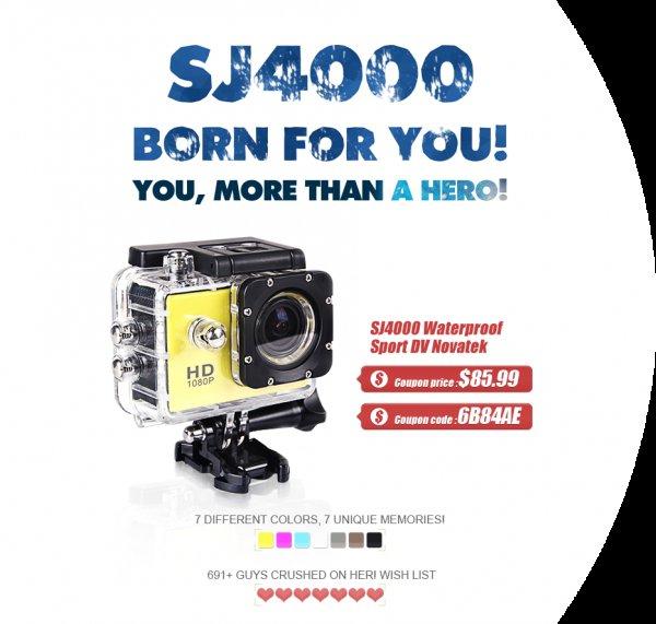 SJ4000 HD Action Cam in silber und anderen Farben