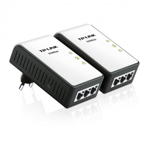 TP-Link TL-PA4030KIT AV500 Mini Powerline-Netzwerkadapter (500Mbit/s, 3-Port) 2-er Set für 29,90€ @Amazon.de