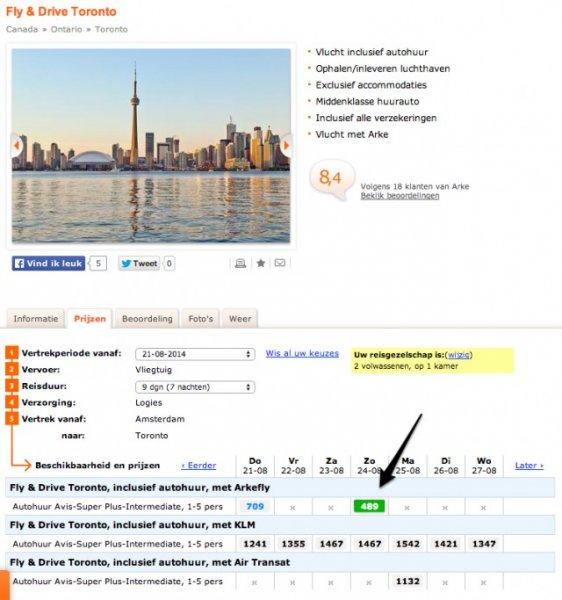 9 Tage Toronto inklusive Flug und Mietwagen für 510 Euro (pro Person für min. 2 Personen) ab Amsterdam @Arke