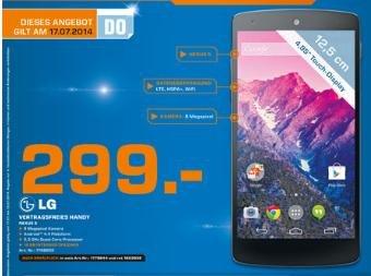 LG NEXUS 5 299€ - TAGESANGEBOT am 17.7.14 im Saturn Heidelberg (lokal)