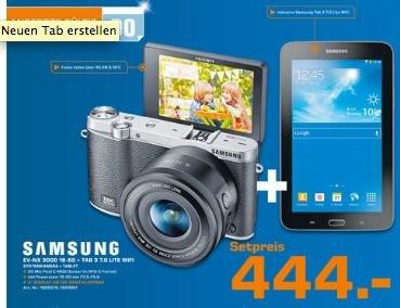 SAMSUNG NX3000 + TAB 3.0 7 LITE WiFi 444€ - Tagesangebot im Saturn Heidelberg am 17.7.14 (lokal)