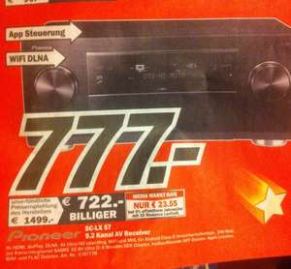 Pioneer SC LX 57 AV Receiver für 777€ Media Markt Essen