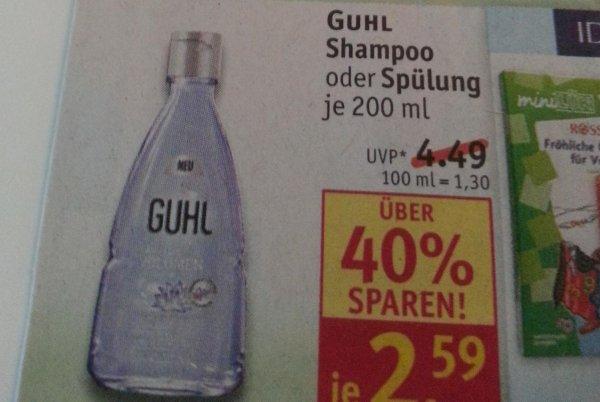 Guhl Shampoo 200ml + 75ml bei Rossmann für 2,59