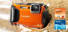 Panasonic DMC-FT5EG9-D Lumix Digitalkamera (7,5 cm (3 Zoll) LCD-Display MOS-Sensor, 16,1 Megapixel, 4,6-fach opt. Zoom, microHDMI, USB, bis 13m wasserdicht) orange  für 267€