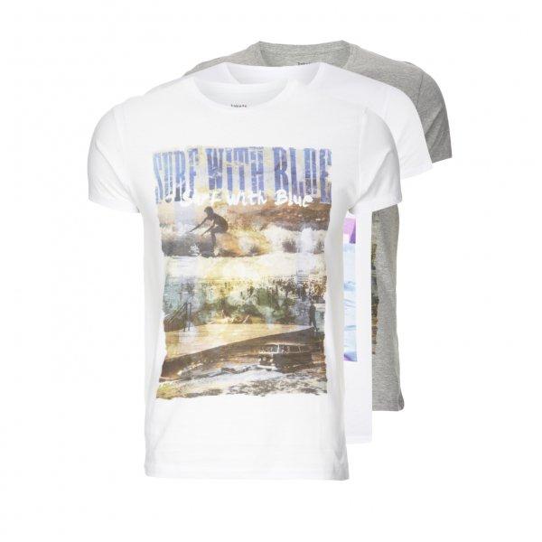 JAKE*S T-Shirt aus Baumwolle Herren NEU