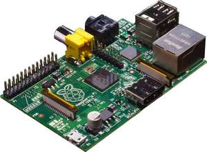 Raspberry Pi Modell B, 512MB RAM (Rev. 2.0) für 29,90 EUR bei amazon.de