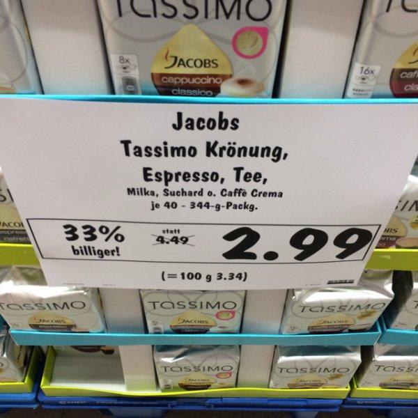 Tassimo Discs für 2,99 bzw. 3,49 bei Kaufland - Bundesweit!