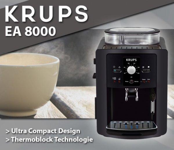 Krups EA 8000 Espresso Vollautomat Kaffeevollautomat Kaffeemaschine schwarz
