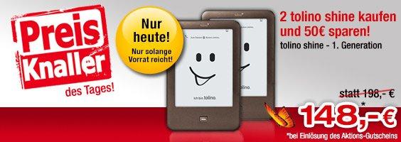2x Tolino Shine bei Buecher.de für 148€