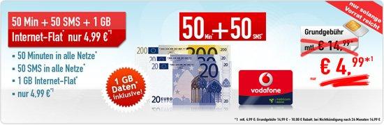 Vodafone Smart Surf 50 Min 50 SMS 1 GB 4,99
