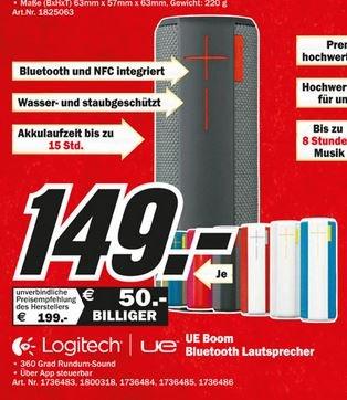 [Lokal MediaMarkt Hamburg] UE Boom 360° Bluetooth Lautsprecher 149.00€