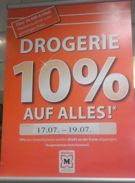 [Lokal Freiburg Müller Bertoldsbrunnen] 10% bei der Drogerieabteilung