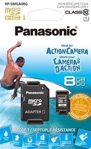 Panasonic MicroSDHC Class 10 inkl. SD-Adapter 8GB für 2,99€ + VSK Vergleichspreis 6,70€ bei Idealo!