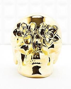 Galvanisierte Totenkopf-Spardose in Gold für 9€ @Urban Outfitters