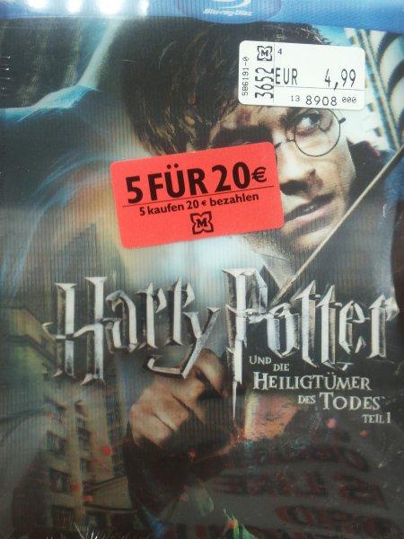 [Lokal] Blu rays bei Müller für 4,99€ u.a. Harry Potter, Shutter Island u.v.m. + Aktion: 5 für 20€ auf ausgewählte Blu rays