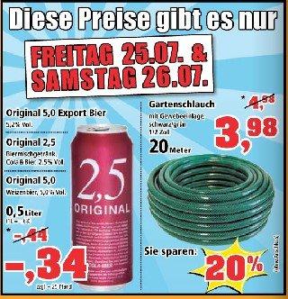 Thomas Philipps --> Original 5,0 Bier --> Original 2,5 Biermischgetränk --> Original 5,0 Weizenbier für je 0,34€ + 0,25€ Pfand