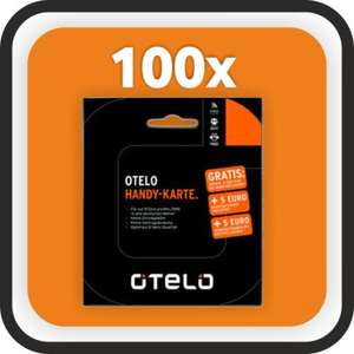 100x otelo Prepaidkarten inkl.5€ Startguthaben (+5€ bei Erstaufladung [macht eh keiner :D ])