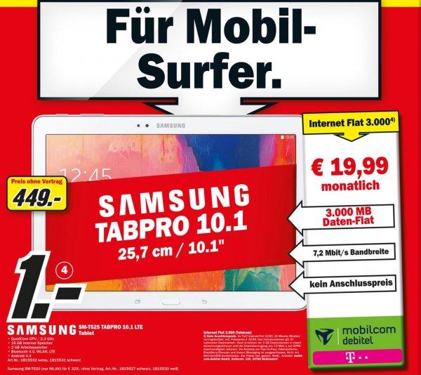 [Lokal Bremen] Samsung Tab Pro 10.1 mit 3 GB Telekom Internet Flat inkl. LTE