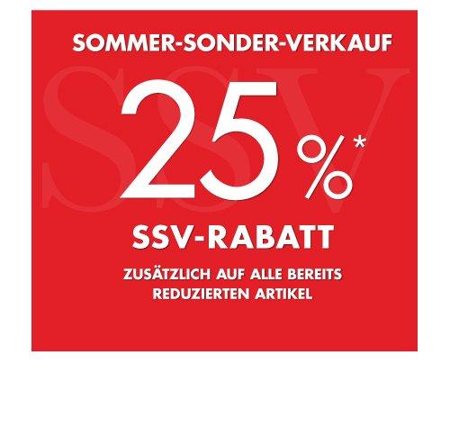Wöhrl Bundesweit 25% auf bereits reduzierte Ware