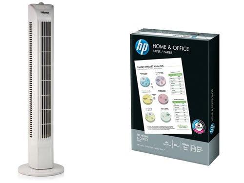 Turmventilator Tristar 45 W Weiß + Universal Druckerpapier HP Home & Office für 20,49€ inkl. Versand! mit Code