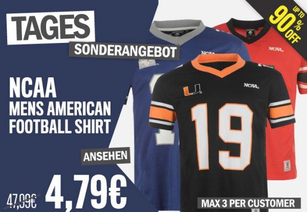 NCAA American Football Männer Shirts [3 Varianten] für je 4,79€ als Tagesdeal bei Sportsdirect.com + Tennisausverkauf mit verschiedenen Angeboten