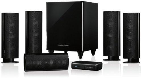 Harman Kardon HKTS 35 5.1 Heimkino-Lautsprechersystem mit drahtlosem Subwoofer (1-er Stück, 200 Watt) schwarz für 539 €