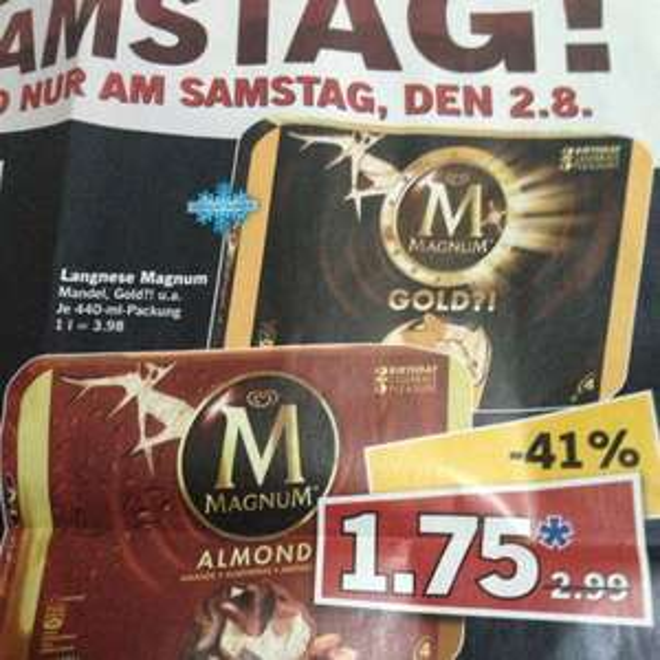 Langnese Magnum Eis 4 Stück bei Lidl 1,75€ Bundesweit
