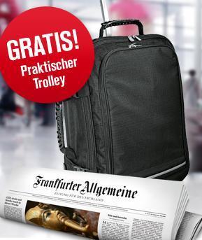 Cooler Trolley  (idealo:ab 25,- €) + 4 Wochen die FAZ (selbstkündigend) für 7,40 € @qipu