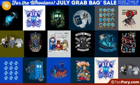 Doctor WHO & Non-WHO Grab Bag T-Shirts - nur HEUTE - über 40 Designs Pop Kultur