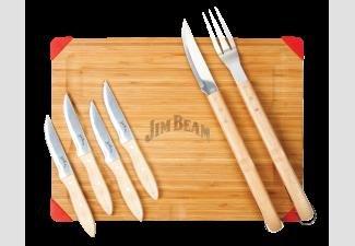 Jim Beam® 7tlg. Set Schneidebrett mit Steakmessern Vergl.38,89