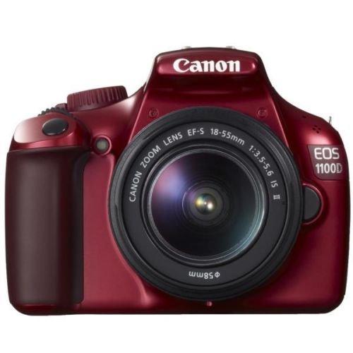 Canon EOS 1100 D rot + EF-S 18-55mm IS II digitale Spiegelreflexkamera