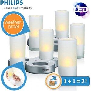 Philips Imageo 2 x 3 LED wiederaufladbare CandleLights für 29,95€ zzgl. 5,95€ Versand