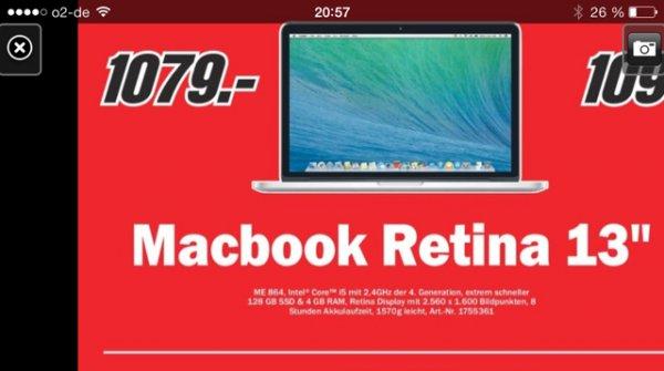 Lokal Media Markt Neuss MacBook Retina 13