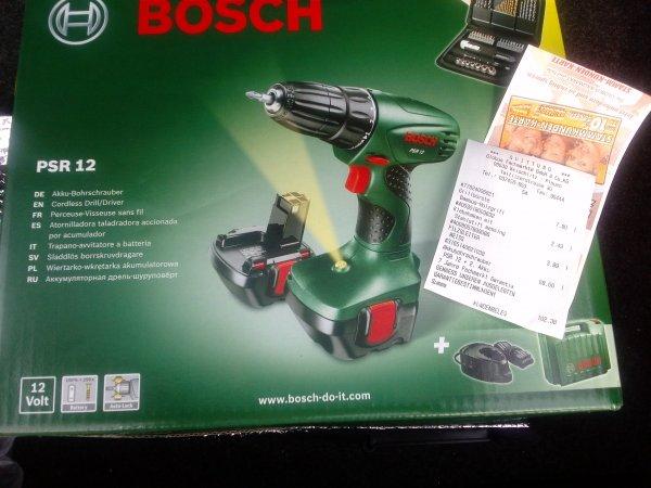 Bosch Akkubohrschrauber PSR12 mit 2.Akku und Zubehör @Globus-Baumarkt Weischlitz