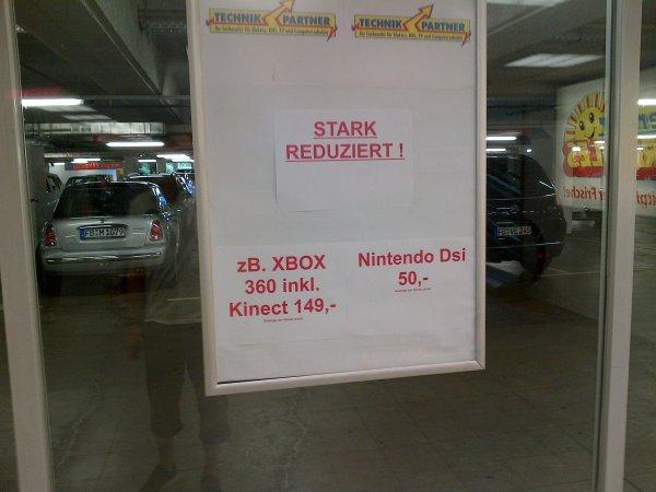 XBOX 360 inkl Kinect für 149€ ud Nintendo DSI für 49€ lokal Bad Vilbel bei Frankfurt