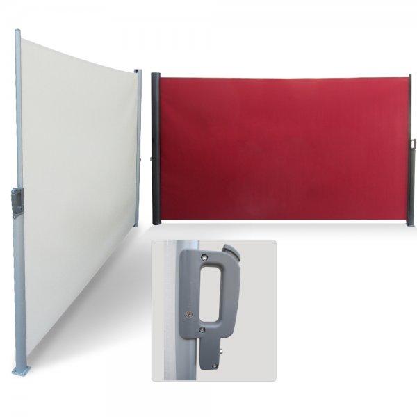 Seitenmarkise Sichtschutz Windschutz 300x180 cm Markise rot beige 74,90