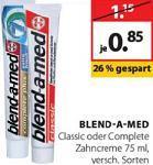 Blend-a-Med Zahncreme 75 ml für 0,35 €  @ Müller [OFFLINE]